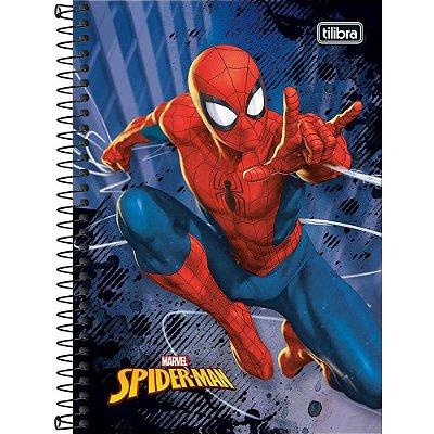 CADERNO ESPIRAL 1/4 CD 80 FOLHAS SPIDER MAN