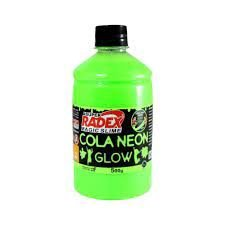 COLA GLOW SLIME VERDE NEON 500G - RADEX