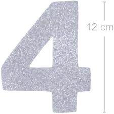 NUMERO ''4'' EM EVA BRILHO PRATA