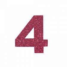 NUMERO ''4'' EM EVA BRILHO PINK