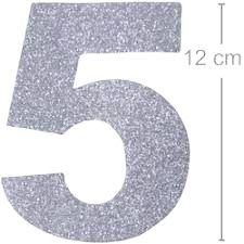 NUMERO ''5'' EM EVA BRILHO PRATA