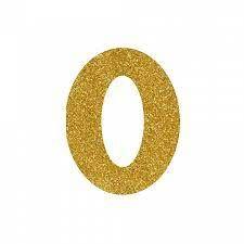 NUMERO ''0'' EM EVA BRILHO OURO