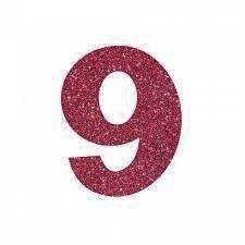 NUMERO ''9'' EM EVA BRILHO PINK
