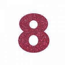 NUMERO ''8'' EM EVA BRILHO PINK