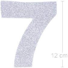 NUMERO ''7'' EM EVA BRILHO PRATA