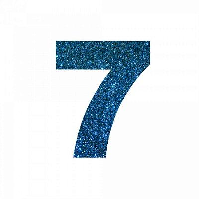 NUMERO ''7'' EM EVA BRILHO AZUL
