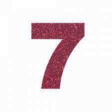 NUMERO ''7'' EM EVA BRILHO PINK