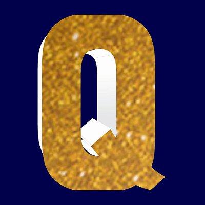 LETRA ''Q'' EM EVA DOURADA