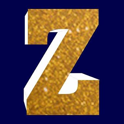 LETRA ''Z'' EM EVA DOURADA