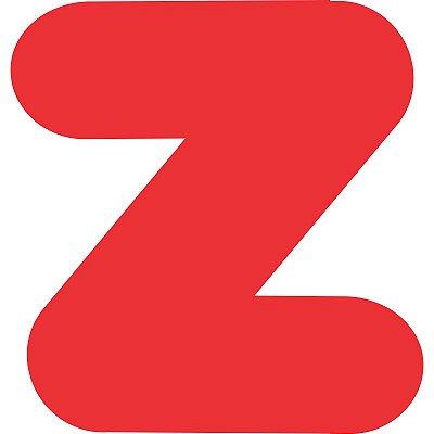 LETRA ''Z'' EM EVA VERMELHA