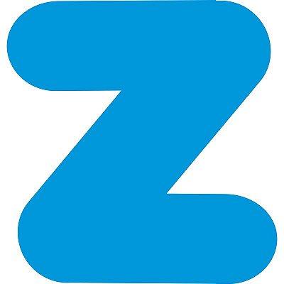 LETRA ''Z'' EM EVA AZUL