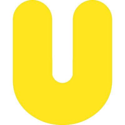 LETRA ''U'' EM EVA AMARELA