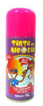 TINTA SPRAY PINTA CABELO ROSA 120ML DALEGRIA
