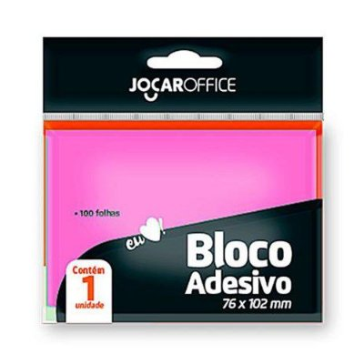BLOCO POST-IT 76X102MM ROSA LEO&LEO