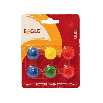 BOTOES MAGNETICOS EAGLE COM 6 UNIDADES TY550