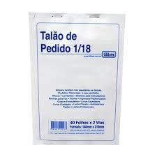 TALÃO DE PEDIDO 1/18 40X2