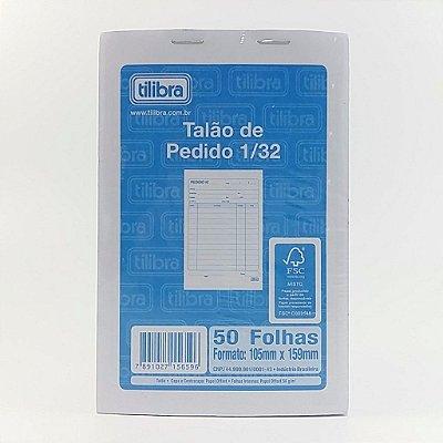 TALÃO DE PEDIDO 1/32 1 VIA 50 FOLHAS