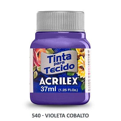 TINTA P/TECIDO ACRILEX REF:540 VIOLETA COBALTO
