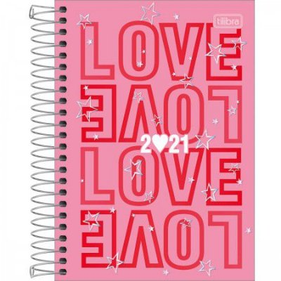 AGENDA ESPIRAL LOVE PINK