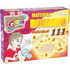 MATERIAL DOURADO DO ALUNO EM MADEIRA COM 111 UNIDADE - CARLU