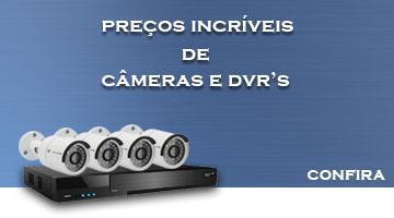 câmeras e DVR's é na MB distribuidora de sistemas