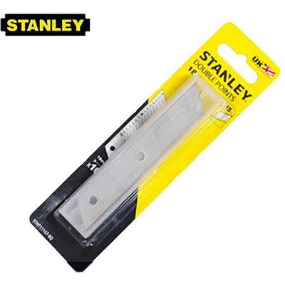 Lâmina de reposição p/ estilete 18mm c/ 15 pontos de corte (com 10 unidades) - Stanley
