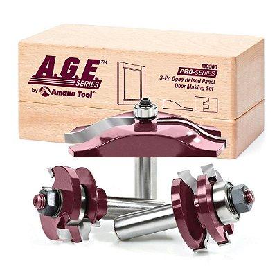 Amana Tool - AGE™ Pro-Series - Fresas p/ Porta tipo Almofada - 3 peças [MD500]