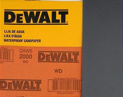 DeWalt - Lixa D'Água FINA Carbeto de Silício G 2000 230x280mm