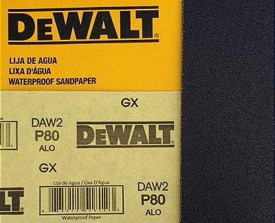 DeWalt - Lixa Agua Oxido de Aluminio G  80 230x280mm