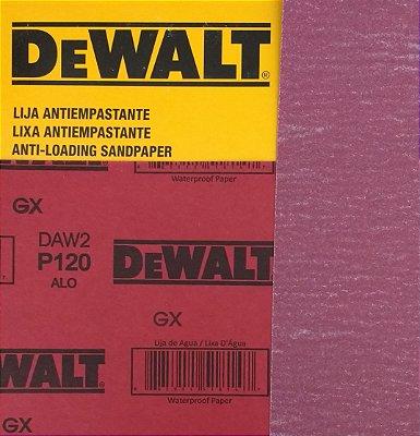 DeWalt - Lixa Seco Estearato G 120  230x280mm