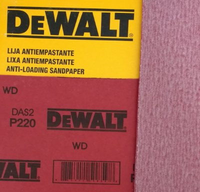 DeWalt - Lixa Seco Estearato G 220  230x280mm
