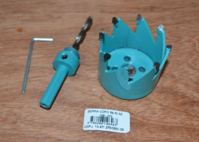 França - KIT Serra Copo Widea Ø 59.80mm x 8Z (1374) + Haste 10mm - Broca 6 mm (0328)