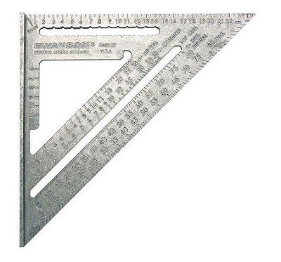 Swanson - Esquadro 25 cm - Métrico c/ 5 funcões  - NA202 - MetricSpeed®Square