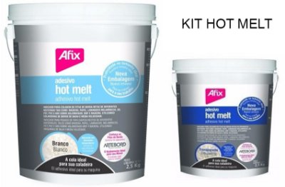 AFIX - KIT Colas HOT MELT 2,5 kg - Transparente + BRANCO