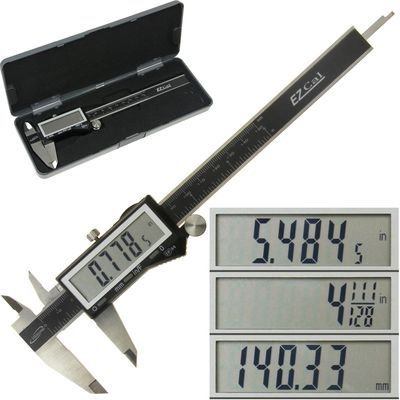 iGaging - Paquímetro Digital 150mm - 100-333-8B - Ez Cal IP54 Digital Caliper 6 In.
