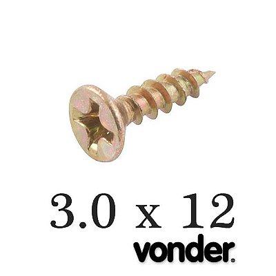 VONDER - Parafuso p/ Madeira 3,0 x 12 Chipboard (1.000 PÇs) Phillips