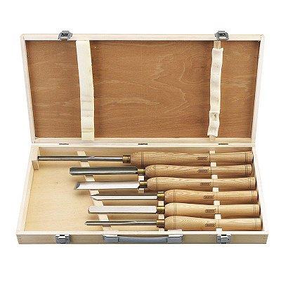 DRAPER - Formões Torno - Cinzel Torneamento (58697) HSS Woodturning Chisel Set (6 Piece)