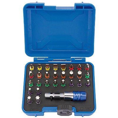 DRAPER - BITS - Conjunto c/ 29 pçs Multicoloridos c/ Conector p/ Encaixe Rápido (82403)
