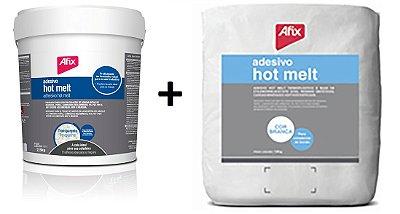 AFIX - KIT HOT MELT BRANCO 10 kg + 1814 Transparente 5 kg