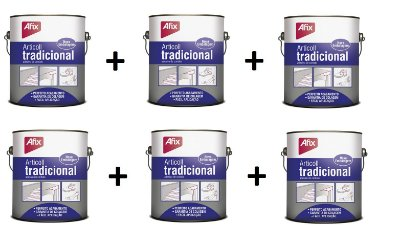 AFIX - KIT c/ 6 und Cola contato ARTICOLL Tradicional 2,8kg