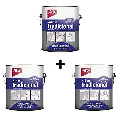 AFIX - KIT c/ 3 und Cola contato ARTICOLL Tradicional 2,8kg