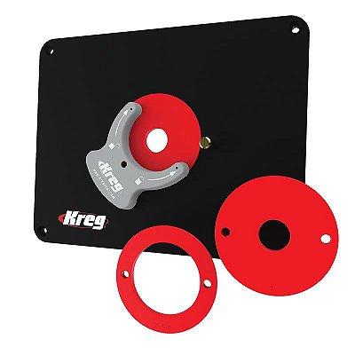 Kreg - Prato Base p/ Mesa de Tupia (PRS4038) Precision Router Table Insert Plate - Undrilled