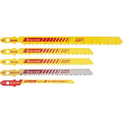 STARRETT - Jogo de lâminas de serra tico tico p/ Madeira BU1 c/ 5 peças