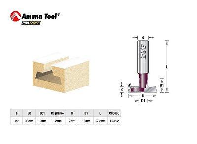Amana Tool - Fresa p/ Painel Canaletado 15 - 38 mm FR312 - T-Slot Carbide Tipped