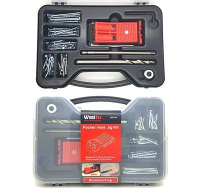 WOODFOX - Pocket Hole Jig Kit - Maleta Combo - Gabarito p/ Furação MP2HK