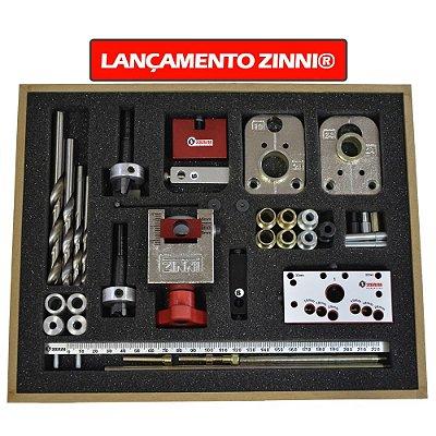 ZINNI - Kit Gabarito Combo Super 47 (Minifix / VB - Rafix / Cavilha) Z01GAB700