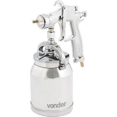 VONDER - Pistola para pintura com caneca em alumínio tipo sucção PSV 200