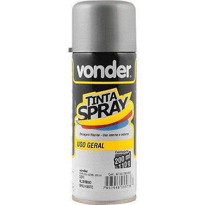VONDER - Tinta em spray alumínio, com 200 ml