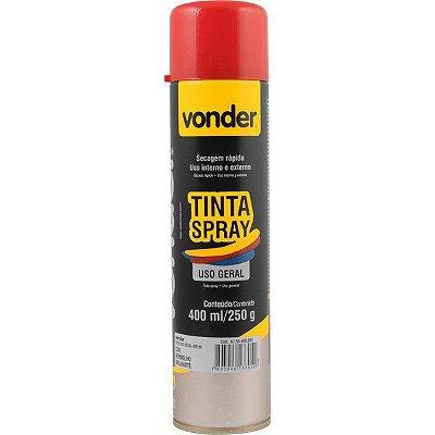 VONDER - Tinta em spray vermelha, com 400 ml