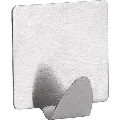 VONDER - Gancho adesivo quadrado, em inox, com 2 peças